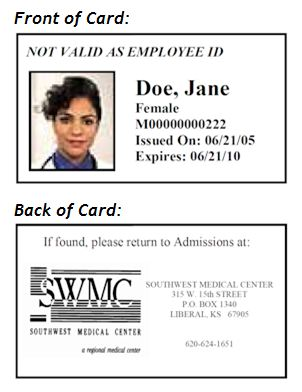 Patient ID Card Southwest Medical Center