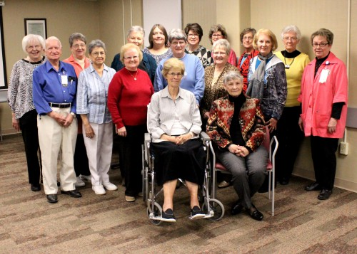 Members of the Southwest Medical Center Auxiliary attended a ceremony during January to celebrate more than 50,000 hours of combined service to Southwest Medical Center and the community.