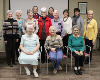 Members of the Southwest Medical Center Auxiliary attended a ceremony during January to celebrate more than 60,000 hours of combined service to Southwest Medical Center and the community.